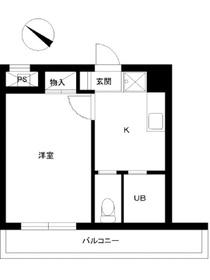 スカイコート日本橋浜町第22階Fの間取り画像