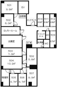 第8Z西村ビル5階Fの間取り画像