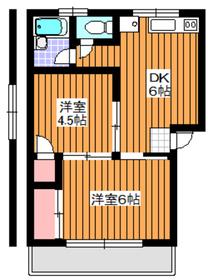 イーストビル2階Fの間取り画像