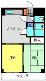 元住吉駅 バス10分「子母口小学校前停」徒歩4分2階Fの間取り画像