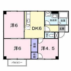 フォンテーヌシャトレⅠ2階Fの間取り画像