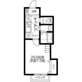 DSコート21KITAMI2階Fの間取り画像