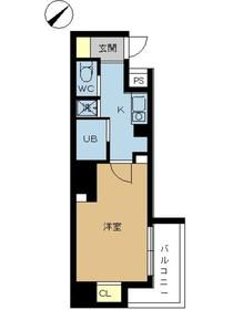 スカイコート日本橋人形町第55階Fの間取り画像
