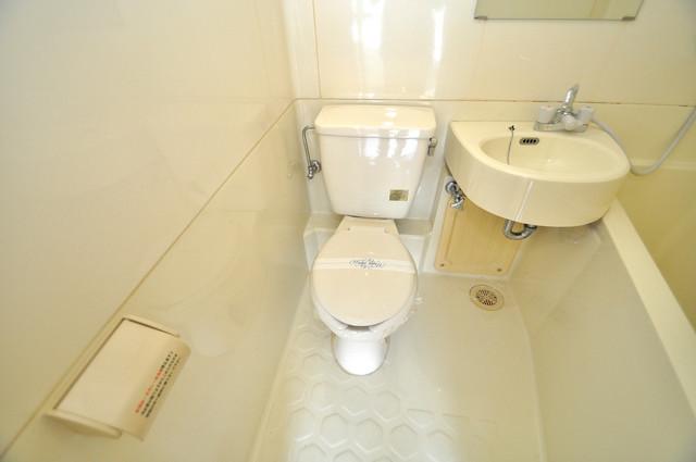 エテルナ長瀬 清潔感のある爽やかなトイレ。誰もがリラックスできる空間です。