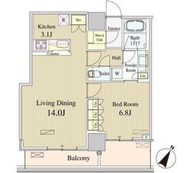 ルミレイス豊洲16階Fの間取り画像