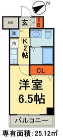 カスタリア三ノ輪13階Fの間取り画像