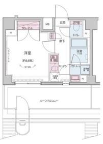 飯田橋駅 徒歩9分6階Fの間取り画像