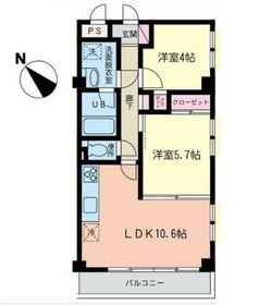 マノアール 欄3階Fの間取り画像