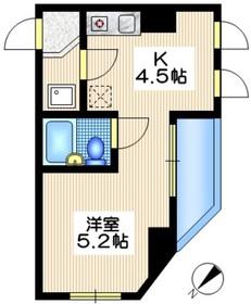 I-Space中目黒2階Fの間取り画像