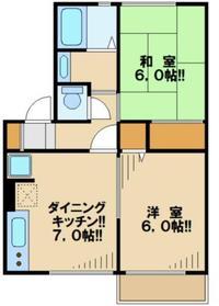 桜ハイツ1階Fの間取り画像