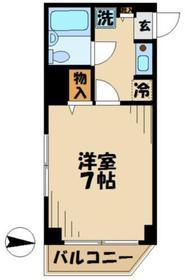 アーバンヒルズ多摩永山2階Fの間取り画像