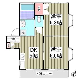 メゾンドYアンドY2階Fの間取り画像