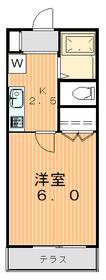 エスポワール若尾1階Fの間取り画像