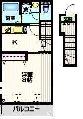 ラ メゾン デュ レスポワ2階Fの間取り画像