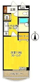 ソレアードマンション3階Fの間取り画像