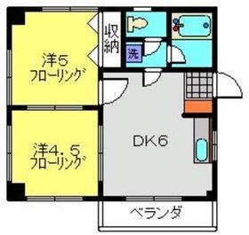新丸子駅 徒歩16分3階Fの間取り画像