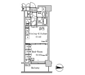 パークアクシス辰巳ステージ4階Fの間取り画像