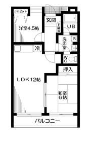 地下鉄赤塚駅 徒歩10分1階Fの間取り画像