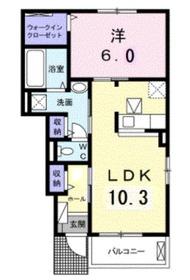 メゾン ドゥ カルム1階Fの間取り画像