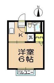 シティハイム プリムラ2階Fの間取り画像