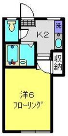 フレンドハイツ2階Fの間取り画像