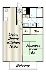 クレストコート2階Fの間取り画像