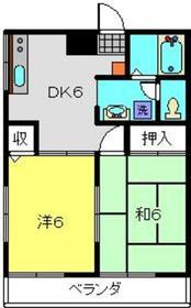 桂ハイム2階Fの間取り画像