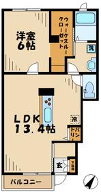 さがみ野駅 バス17分「上落合」徒歩2分1階Fの間取り画像