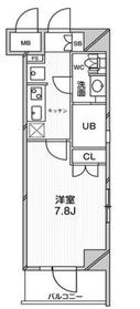 エルスタンザ文京千駄木12階Fの間取り画像