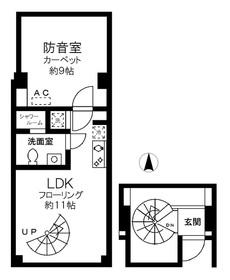 ホワイトゴールド祐天寺地下1階Fの間取り画像
