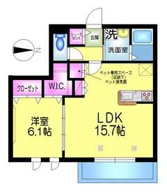 メゾン デュ リアン1階Fの間取り画像