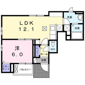 カデンツァⅡ1階Fの間取り画像