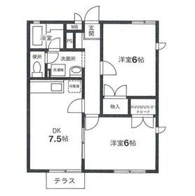 新川崎シティホームズ1階Fの間取り画像