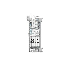 メインステージ森下Ⅱ3階Fの間取り画像