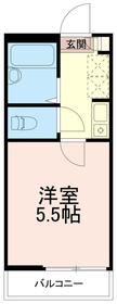 グランスクエア中野島3階Fの間取り画像