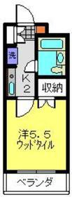 セザール第二鶴間2階Fの間取り画像