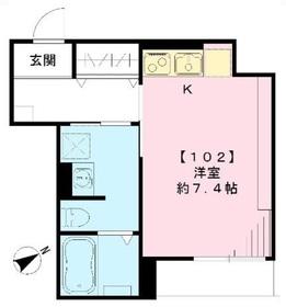 ローズマンション1階Fの間取り画像