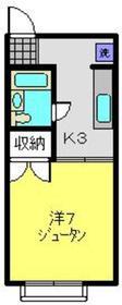 和田町駅 徒歩18分2階Fの間取り画像