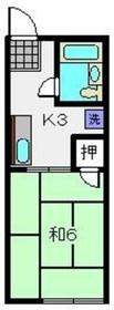 上星川駅 徒歩20分2階Fの間取り画像