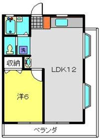 ロイヤルハイム吉原Ⅱ1階Fの間取り画像