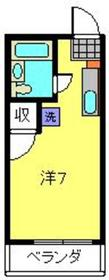 新子安駅 徒歩12分2階Fの間取り画像