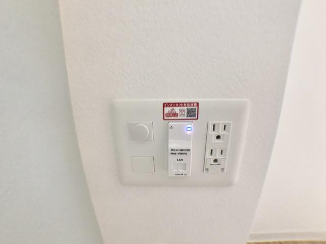 無料WiFi完備。有線も利用可。