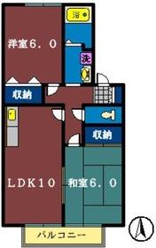 ヴィラージュコート弐番館1階Fの間取り画像