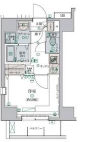 リヴシティ横濱弘明寺弐番館8階Fの間取り画像