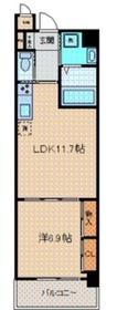 iランド川崎5階Fの間取り画像