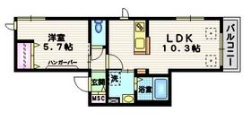 N・A PLAZA OMORI III3階Fの間取り画像