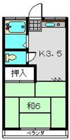オオタ荘2階Fの間取り画像