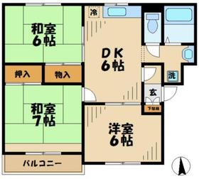 クレセントハウス2階Fの間取り画像