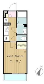 リブリシャルマンパル2階Fの間取り画像
