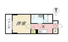 スパシエカステール横浜吉野町5階Fの間取り画像